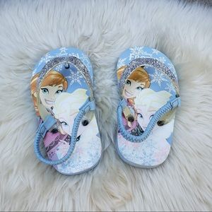 Disney Frozen Flip Flops Blue Sandals